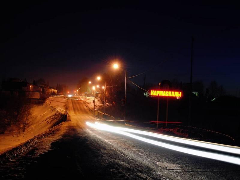 Фотография в Кармаскалинском районе: Восточный въезд в село Кармаскалы