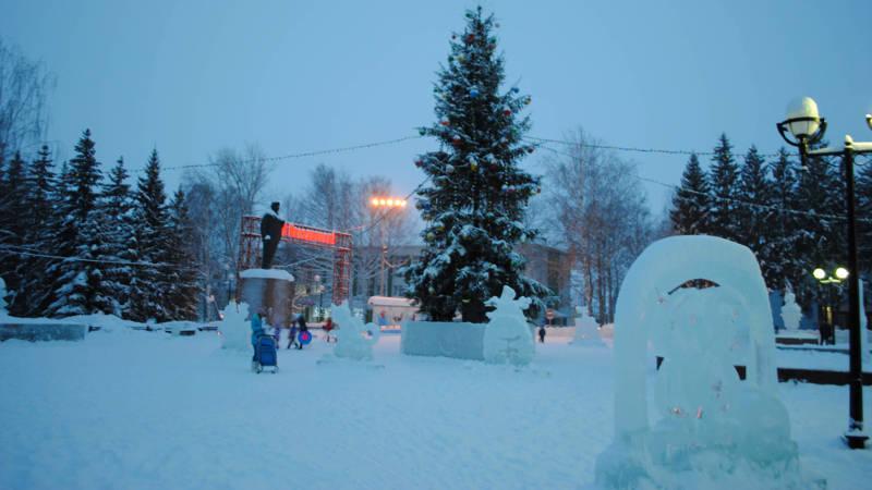 Фотография в Кармаскалинском районе: Площадь Ленина. Зима 2017.